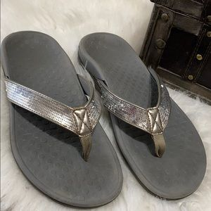Vionic Tide Womens Silver Sparkle  Sandals Size 8